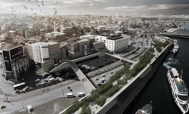 EC3, BINAA ve DOME+Partners'tan İstanbul Ticaret Odası ve Çevresi Düzenleme Projesi