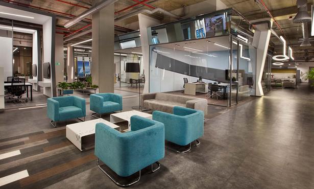 Kağıthane'de Bir Ofis İç Mekanı Tasarımı