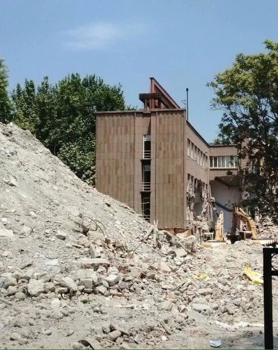 İller Bankası Binası Yıkıldı