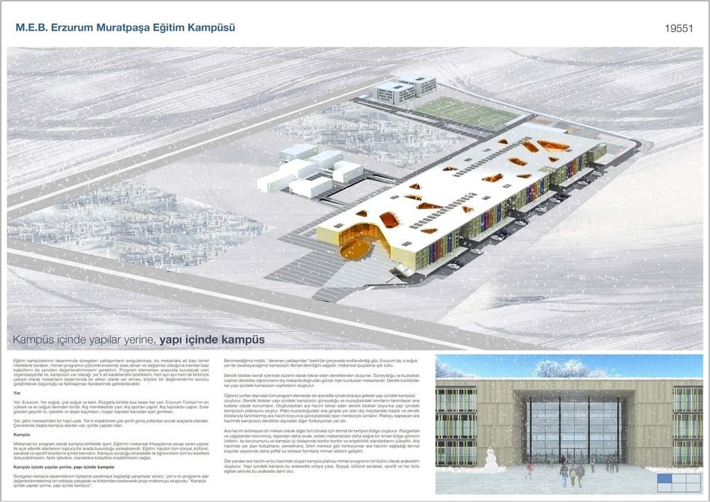 Mansiyon, MEB 3. Grup Erzurum Yakutiye Eğitim Kampüsü Mimari Proje Yarışması
