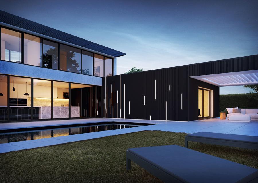 Renson Linarte Dikey Dokulu Dekoratif Dış Cephe Kaplama Sistemi