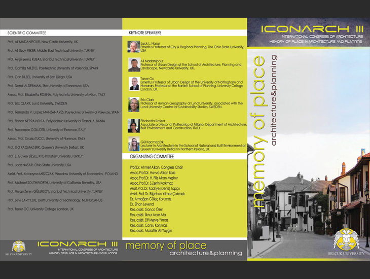 International Congress of Architecture-Memory of Place in Architecture and Planning