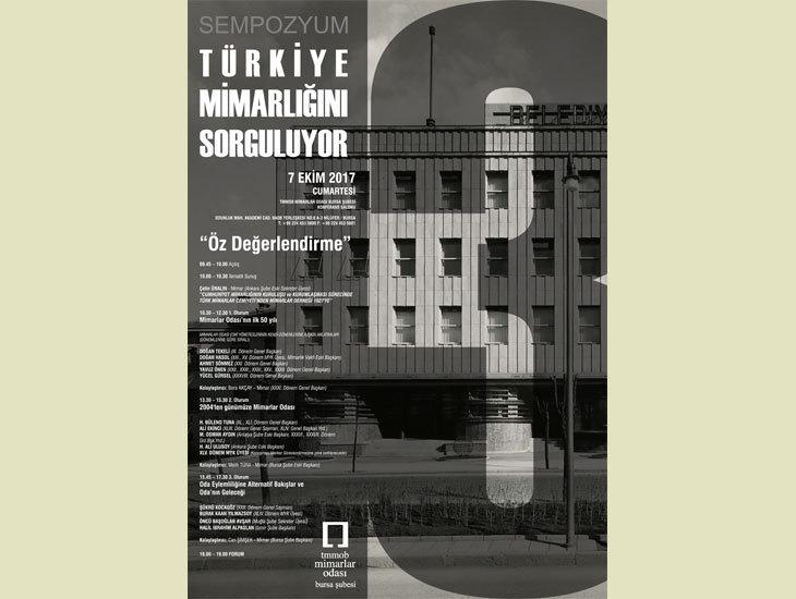 Türkiye Mimarlığını Sorguluyor Sempozumu 3: Öz Değerlendirme