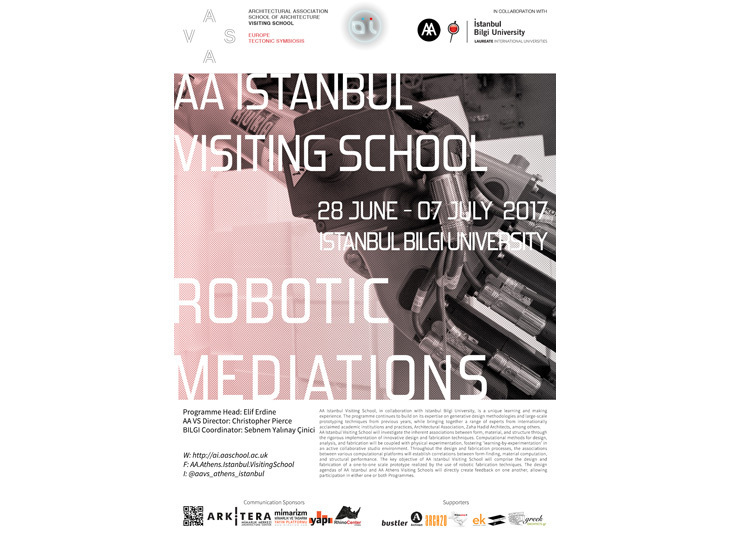 AA Istanbul Visiting School 2017: Robotic Mediations