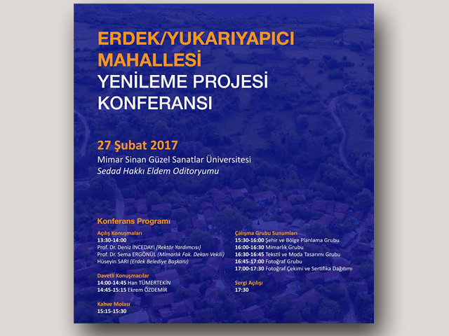 Erdek/Yukarıyapıcı Mahallesi Yenileme Projesi Konferansı ve Sergi Açılışı