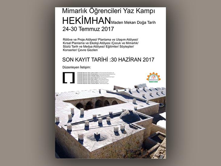 """Hekimhan """"Maden, Mekân, Doğa, Tarih"""" Mimarlık Öğrencileri Yaz Kampı"""