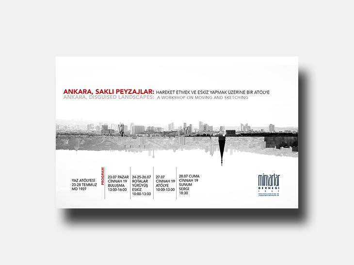Ankara, Saklı Peyzajlar: Hareket Etmek ve Eskiz Yapmak Üzerine Bir Atölye