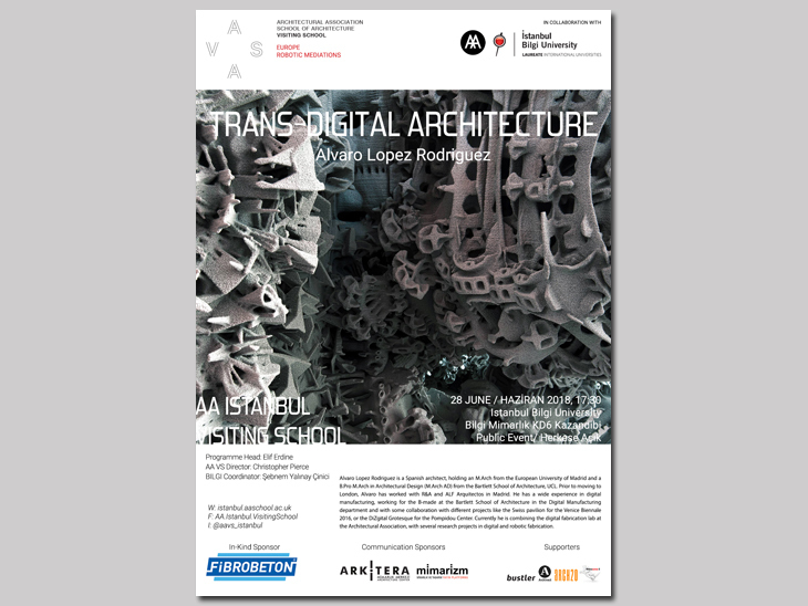 AA Istanbul Visiting School Lecture - Trans Digital Architecture