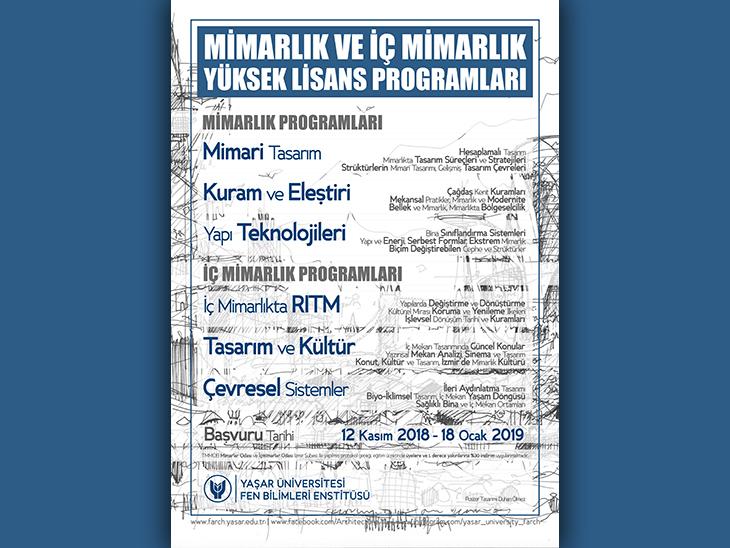 Yaşar Üniversitesi Mimarlık ve İç Mimarlık Yüksek Lisans Programları