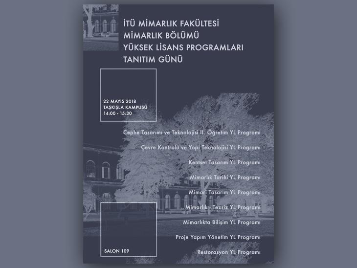 İTÜ Mimarlık Bölümü Yüksek Lisans Programları Tanıtım Günü