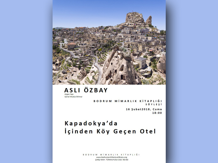 Kapadokya'da İçinden Köy Geçen Otel