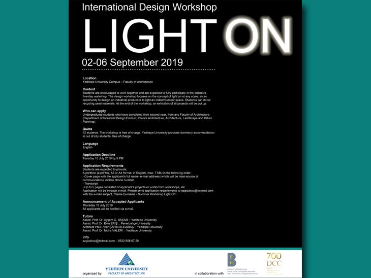 LIGHT ON - Uluslararası Tasarım Atölyesi