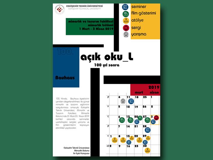 açık oku-L: Eskişehir Teknik Üniversitesi Mimarlık Bölümü Bauhaus 100. Yıl Etkinlikleri