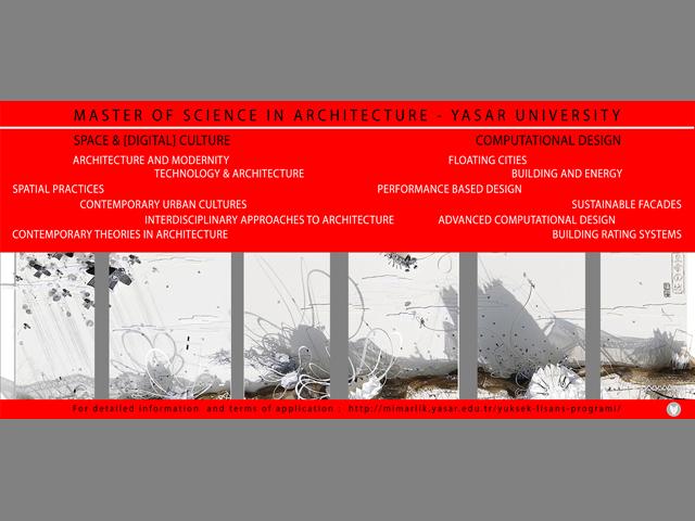 Yaşar Üniversitesi Mimarlık Yüksek Lisans Programları