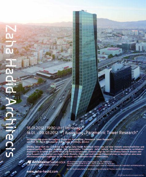 Zaha hadid architects parametric tower research for Parametric architecture zaha hadid