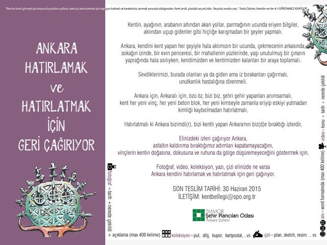 Ankara'nın İzleri: Kent Belleği Sergisi Katılım Çağrısı