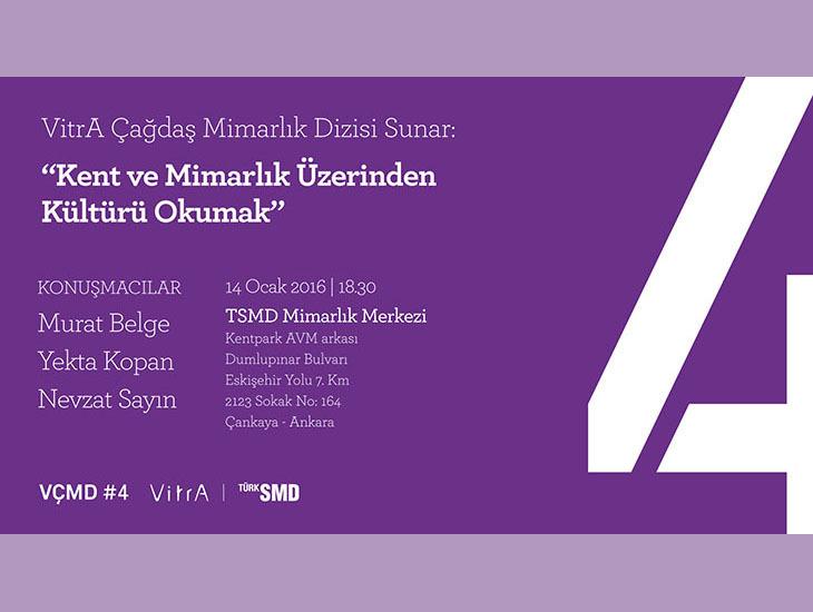 """VÇMD: """"Kent ve Mimarlık Üzerinden Kültürü Okumak"""""""