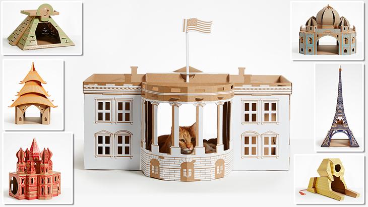 Ünlü Mimari Yapılar Evcil Hayvanlar İçin Oyun Evi Olursa