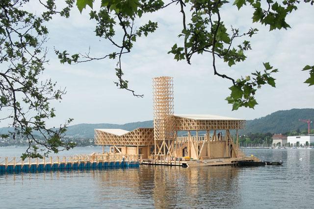 ETH Öğrencileri Zürih'te Yüzer Pavyon Tasarladı