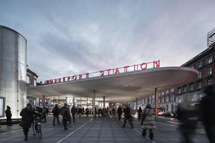 COBE'nin Tasarladığı Nørreport İstasyonu'na En İyi Ulaşım Binası Ödülü