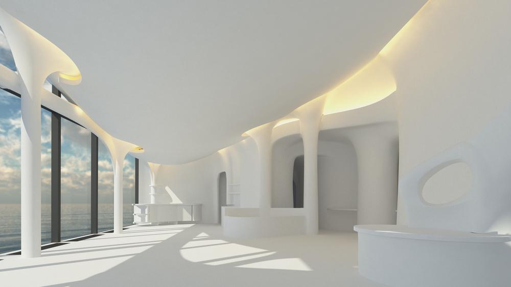 Elbphilharmonie'nin Mağara Benzeri Çatı Katı