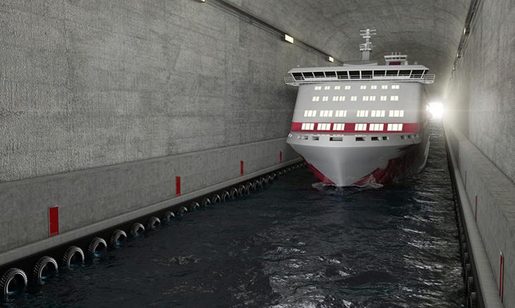 Dünyanın İlk Dev Ölçekli Gemi Tüneli