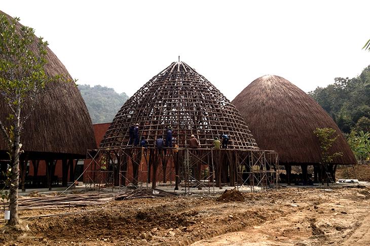 Vietnam'da Bambu Kubbeler