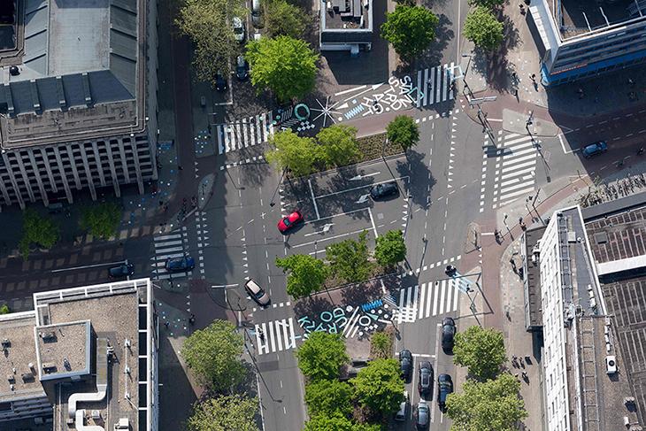 Rotterdam'da Neşeli Yaya Geçidi