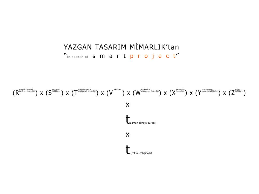 "Yazgan Tasarım Mimarlık'tan ""in search of smart project"""