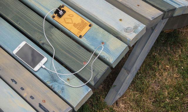 Güneş Enerjisi Üreten Kent Mobilyaları