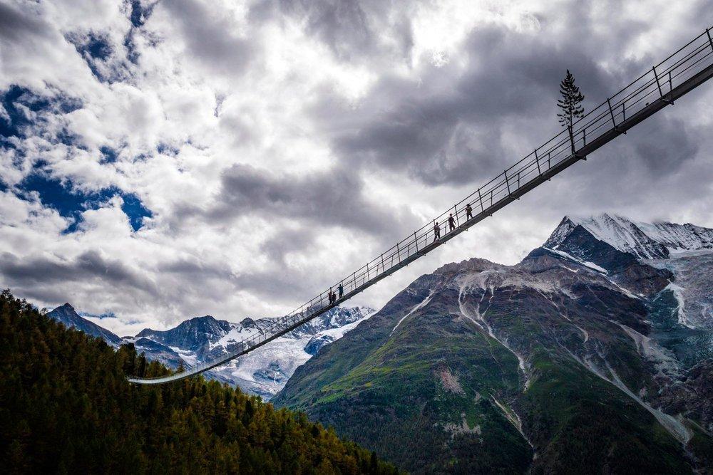 Alpler'de Dünyanın En Uzun Asma Köprüsü