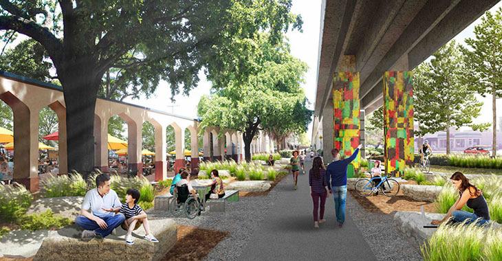 """Metro Hattı Altında Lineer Bir Kent Parkı: """"Underline"""""""