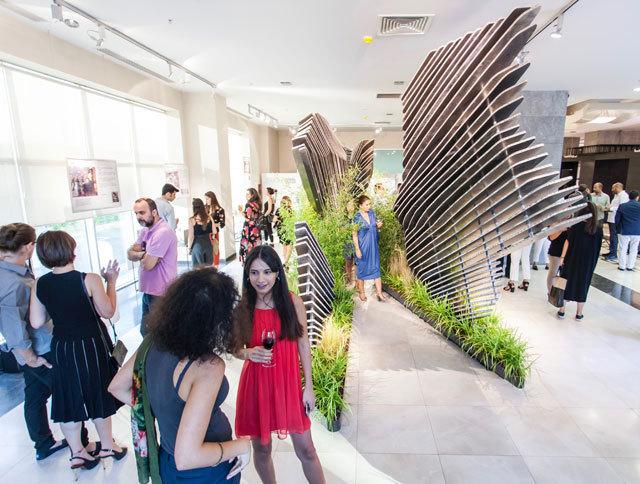 Biyofilik Mermer Bahçe ve Pavilyonu Sergisi Açıldı