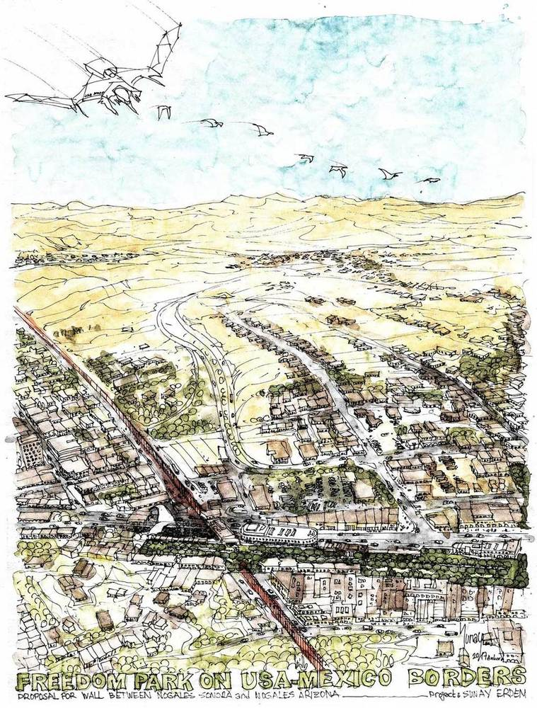 Nogales Meksika Duvarı Projesi Halk Oylamasında Türk Ekip Birinci Seçildi