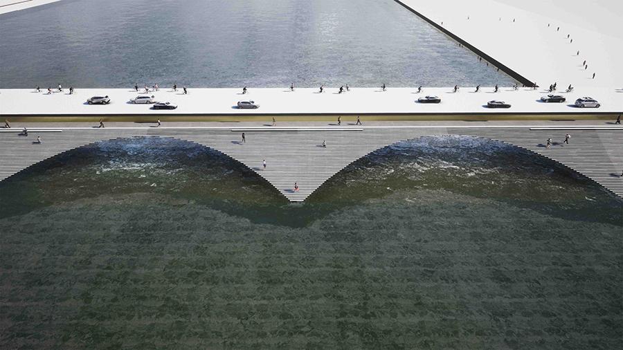 Nehri Amfitiyatroya Dönüştüren Köprü Önerisi