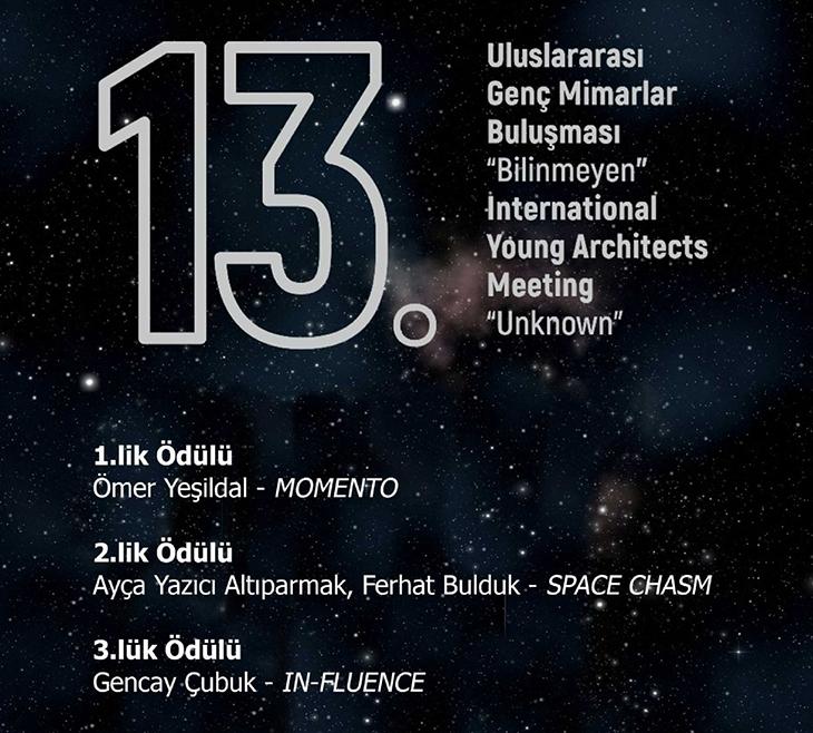13. Uluslararası Genç Mimarlar Fikir Yarışması Sonuçlandı