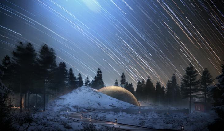 """Norveç Ormanları İçinde """"Interstellar"""" Kabinler"""
