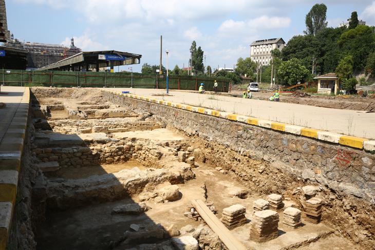 Haydarpaşanın altında Khalkedon kalıntıları bulundu