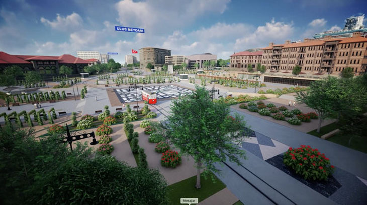 Ulus Meydanı Projesi'nin Detayları Duyuruldu