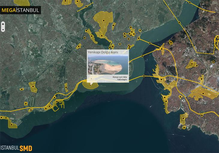 İstanbul'un Mega Projeleri Haritalanıyor