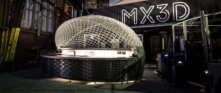 MX3D'nin Üç Boyutlu Baskı Teknolojisi ile İnşa Edilen Sahil Barı