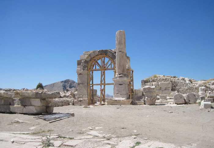 Sagalassos Antik Kenti et-balık çarşısı bulundu