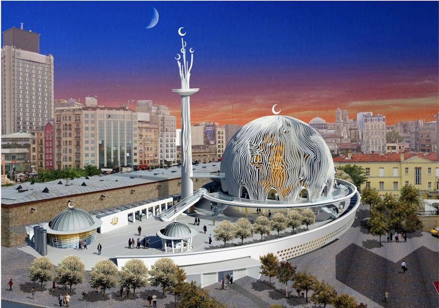 İşte Taksim Camisi!