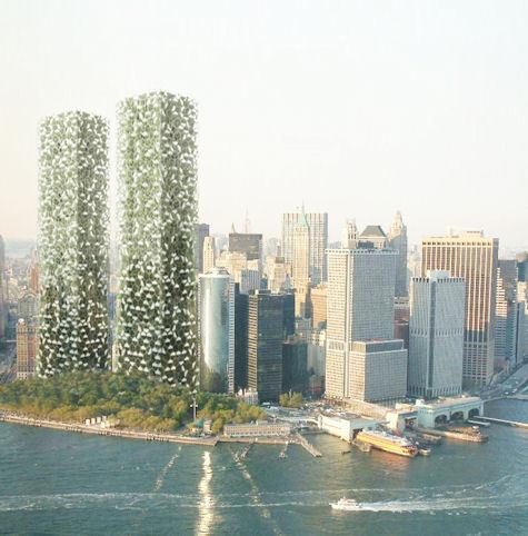 """Türk mimarların """"yeşil ikiz kuleleri"""" New York'a inşa edilecek"""