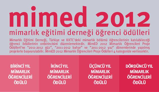 MimED 2012 Mimarlık Öğrencileri Proje Ödülleri Sonuçlandı