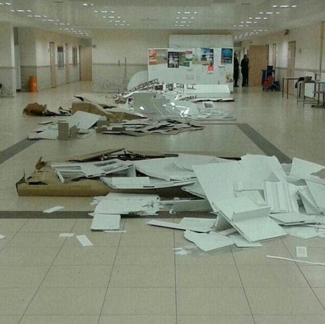 Gazi Üniversitesi'nde maketlere tahammül edemediler!