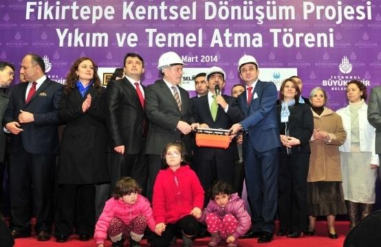 Fikirtepe Kentsel Dönüşüm Projesi Yıkım ve Temel Atma Töreni Gerçekleşti