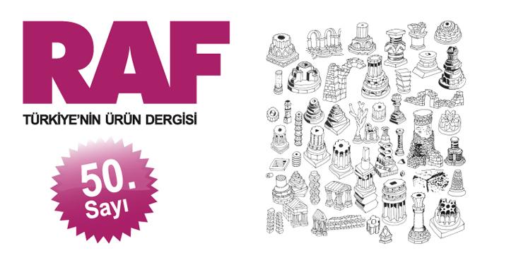 Türkiye'nin Ürün Dergisi RAF 50. Sayısını Kutluyor