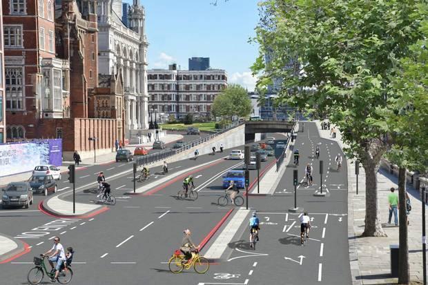 Avrupa'nın En Uzun Bisiklet Yolu Londra'da Yapılacak