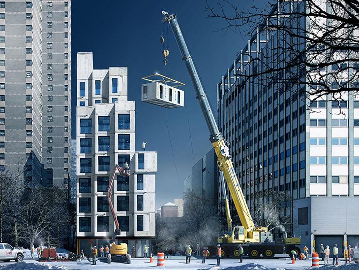 New York'un İlk Mikro Apartman Kompleksi Tamamlanmak Üzere
